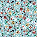 Meterware, Quilts, Weihnachtsmann-Motiv