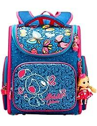 Girls' Backpacks School Bags For Elementary Cartoon Flower Waterproof With Cute Dolls By Golovle