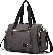 HaloVa Diaper Bag, Baby Diaper Tote, Mommy Daddy Nappy Duffel Handbag Potty-Training427 Grey HaloVa
