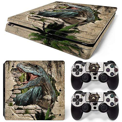 46 North Design pieno sticker della pelle skin Dinosaur World per le console PS4 Slim x 1 e controller x 2