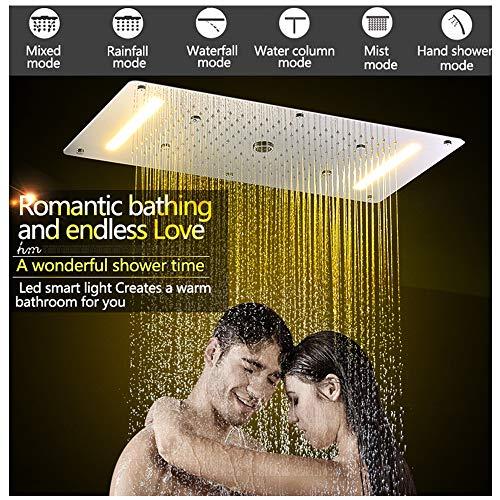 Badezimmer Duschset Zubehör Wasserhahn Panel Tap Warm und Kaltwasser Mixer LED Decke Duschkopf Regenfall Wasserfall Dusche