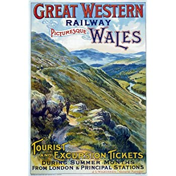 TR59 Vintage Marlborough /& Calne Great Western Railway Travel Poster A4