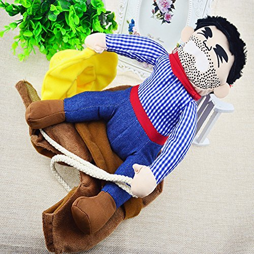 lloween Cowboy Funny Costume Dog Riders Clothes (Extra Large) ()