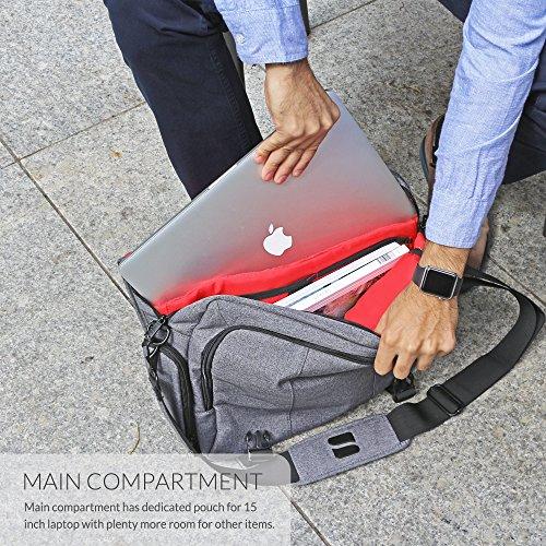 Laptoptasche  Snugg grau 17 Zoll - 3