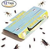 Trapro Cockroach Trap Sticky with Bait Non-Toxic and ECO-Friendly - 12 Pack
