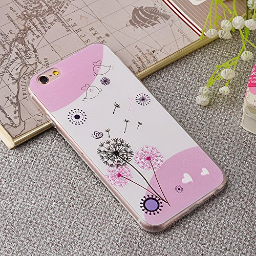 Coque iPhone 6/iPhone 6S ,Coque iPhone 6 Plus ,Coque iPhone 6S Plus Manyip TPU Silicone Souple Gel Doux Housse étui de Protection Ultra Mince Relief peint 3D Phone Case Coque(CX-01) J