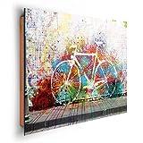 REINDERS Graffiti Fahrrad - Wandbild 90 x 60 cm