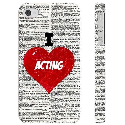 sudysaccessories Cœur I Love agit sur Dictionnaire iPhone 4iPhone 4S Étui en plastique-Tissu Softshell Full Direct Imprimé