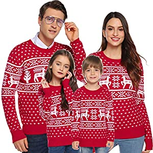 Aibrou Suéter de Navidad para