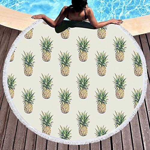 WFH Handtuch Decke, Runde Wandbehang Tapisserie, Strandtuch Matte, Strand Handtuch Decke Sand...