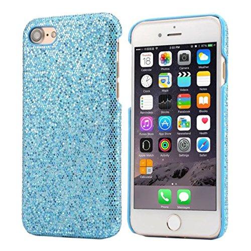 """iPhone 7 Plus Coque Dur Case Fine Mince Style Poids léger, Etui Apple iPhone 7 Plus 5.5"""", Élégant Briller Poudre Quatrième de couverture Anti Choc Housse de Protection pour iPhone 7 Plus Bleu"""