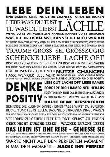 empireposter Lebe dein Leben – Sticker PVC Aufkleber – Motivation Sprüche 7×10 cm