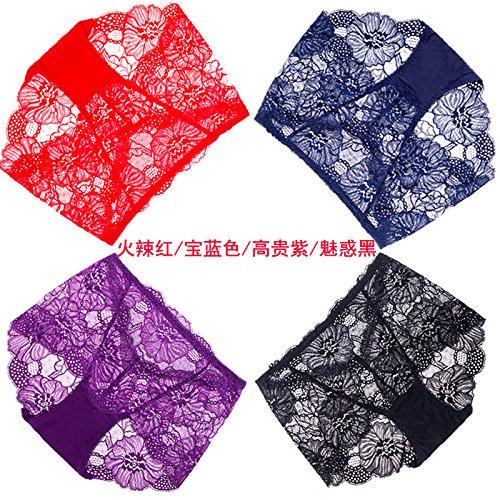 Teen Blauen Kleid Kostüme M&m (Artikel RRRRZ*4 große rote Box in diesem Jahr im Auftrag der weiblichen Unterwäsche Spitzenstoff in sexy Unterwäsche, M, Taille 3 hot Rot / Blau / Violett / Schwarz)