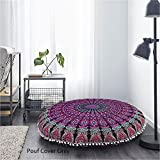81,3cm viola cuscino da meditazione cuscino da pavimento Seating copertura hippie decorative Bohemian boho mandala indiano di Monika imprese