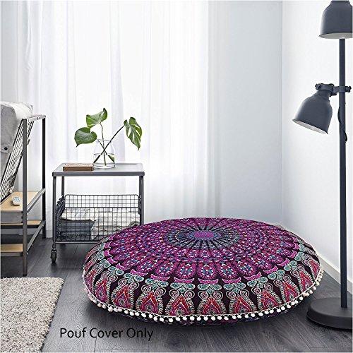 81,3cm lila Mandala Boden Kissen Meditationskissen Platz Überwurf Cover Hippie Deko Bohemian Boho indischen von...
