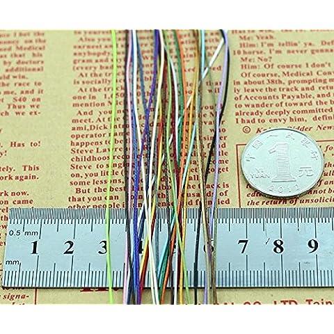 Nuovi 20colors / lot 0.5mmx20m incerato poliestere
