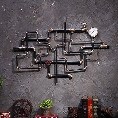 SUNSPJ Sepia hierro eólica Industrial de pared para el Bar-Cafetería decorado las paredes