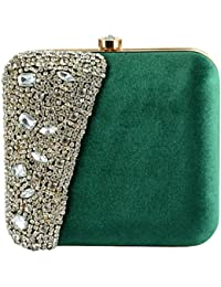 Tooba Women's Crystal Square Box Clutch