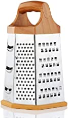 Expresso 6-Sided Stainless Steel Grater and Slicer,Wood Finish