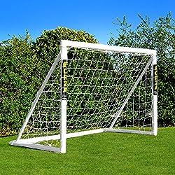 EuroMarkt Buts de Football de Forza - buts de Football de Jardin de PVC Disponibles dans Cinq Tailles - buts imperméables d'enfants [Net World Sports] (Forza Cage 1.8x1.2m)