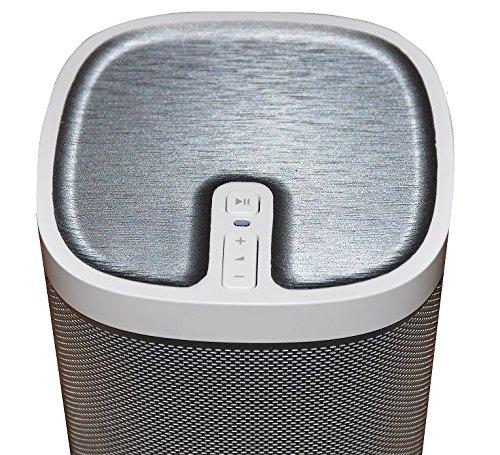 Preisvergleich Produktbild Aufkleber Cover passend für Sonos Play 1 in Alu gebürstet Look grau