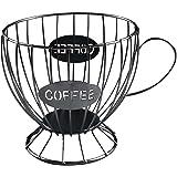 Panier Coffee Porte Capsule Café Design Original Noir - Range capsules Dolce Gusto, Nespresso, Tassimo - Rangement Support Ca