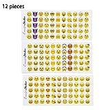 Emoticones Etiqueta,niceEshop(TM) 660Pcs Mini Pequeña Expresión para para la Fiesta de Gallina, Cumpleaños, Fiesta de Bodas, Disfraces Accesorios,Amarillo