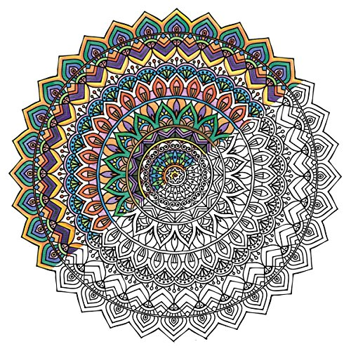 Janlynn Mandala Zen Color Lienzo Incluye rotuladores, Tejido,, 30x 30x 3cm