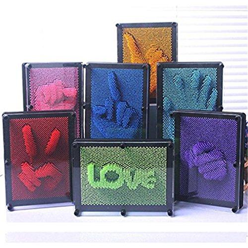 Omiky® Kinder lustige Witze 3D Antistress Klon Fingerabdruck Nadel Malerei Geschenk Spielzeug (Zufällige Farbe) (Mädchen-nadel)