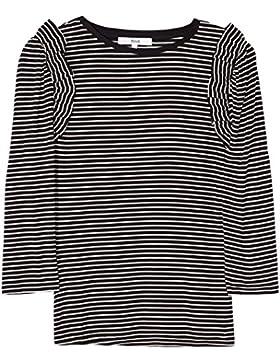 FIND Camiseta de Rayas con Volantes para Mujer