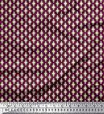 Soimoi Rosa Seide Stoff geometrisch Ikat gedruckt Craft