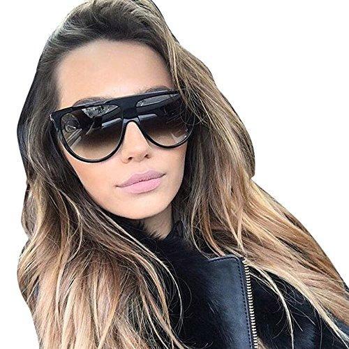 DAY.LIN Sonnenbrille Damen Herren Mode Unisex Vintage Shaded Objektiv dünne Brille Mode Flieger Sonnenbrille (D)