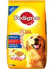 Pedigree Adult Dry Dog Food, Chicken and Vegetables, 10kg Pack