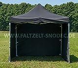 3 x 3 parte shwarz PVC carpa pabellón Faltzelt Faltpavillon 350 G M los paneles laterales con 4 compartir la página Party tienda carpa pabellón de venta a prueba de agua