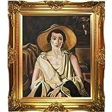 overstockArt ad2687-fr-6996g2024x derain Portrait 'Frau mit Paul Guillaume Viktorianischer Oberfläche gold, Gold