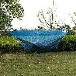 Papaxiong Outdoor Camping Hängematte Wandern Mesh Moskitonetz Camping Hängematten Mit Baum Gurte