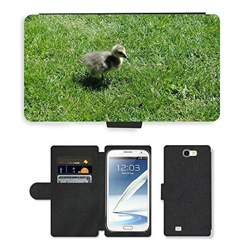 Just Cover Hot Stil Handy Karte Slot Hülle/Case/Brieftasche aus PU-Leder/m00139083Gosling Ente Küken Vogel Baby Young//Samsung Galaxy Note 2II N7100