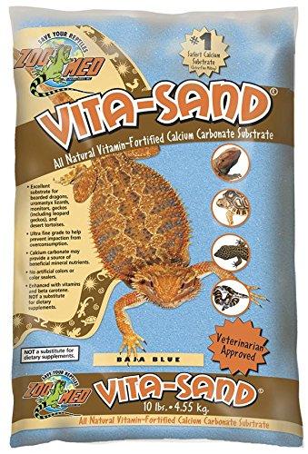 Zoo Med VB-10 Vita-Sand Baja, Blue, 4.5 kg, Terrariensand für Reptilien, mit Vitaminen