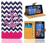 Microsoft Lumia 535 Handy Tasche, FoneExpert® Wallet Case Flip Cover Hüllen Etui Ledertasche Lederhülle Premium Schutzhülle für Microsoft Lumia 535 (Pattern 11)