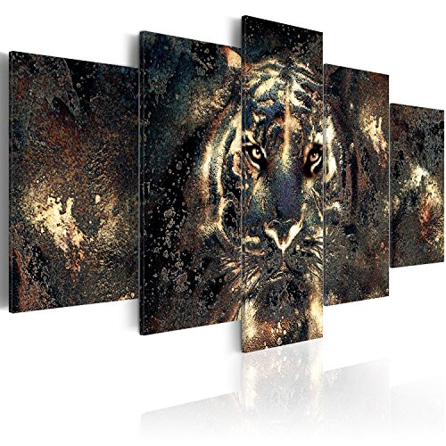 murando - Acrylglasbild Abstrakt 200x100 cm - 5 Teilig - Glasbilder - Wandbilder XXL - Wandbild - Bilder - Löwe Tier g-B-0024-k-n