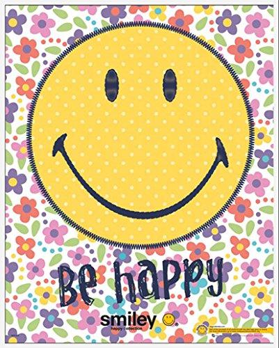 Smiley - Be Happy - Fun-Poster, Druck, Mini Poster Comic Gesichter - Grösse 40x50 cm + Wechselrahmen, Shinsuke® Maxi Kunststoff Weiss, Acryl-Scheibe