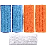 KEEPOW 5 Pcs Lavabile Riutilizzabili Mopping Pads for iRobot Braava Jet 240 241 Included (2 Panno umido, 2 Tamponi di umidità, 1 Rilievo a secco)