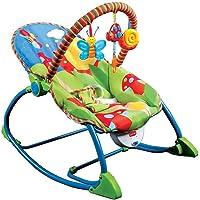 LuvLap Butterfly Newborn to Toddler Portable Rocker Cum Bouncer
