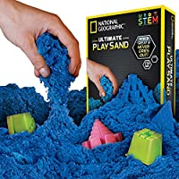 National Geographic Play Sand with Castle Moulds and Tray
