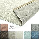 Designer-Teppich Pastell Kollektion | Flauschige Flachflor Teppiche fürs Wohnzimmer, Esszimmer, Schlafzimmer oder Kinderzimmer | Einfarbig, Schadstoffgeprüft (Natur Weiss, 40 x 60 cm)