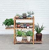 JNYZQ Pine Blume Stand/carbonized Korrosion Boden Multi-Layer-Kombination Leiter Stand Topf Rack Blumenständer Display-Ständer - Carbon Black (größe : 3 Tier)