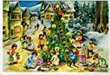 KORSCH VERLAG Adventskalenderkarte Baum m. Leiter L.H.