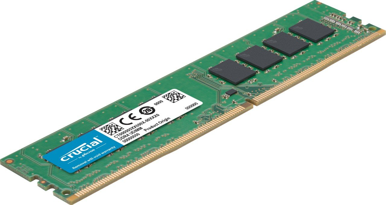 Crucial-DDR4-2400-MTs-PC4-19200-CL17-Single-Rank-x8-DIMM-288-Pin-Memory
