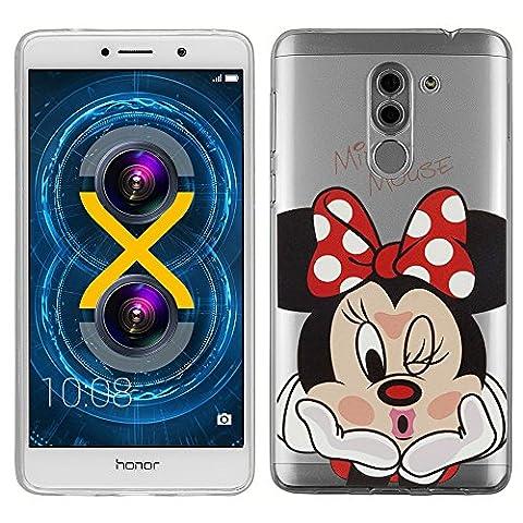 VComp-Shop® Transparente Silikon TPU Handy Schutzhülle mit Motiv Cartoon Disney Fröhliche Weihnachten! für Huawei Honor 6X/ GR5 2017/ Mate 9 Lite - Minnie Mouse