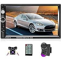 Podofo Autoradio 2 Din 7'' Bluetooth Auto Radio Écran Tactile Lecteur Téléphone Android Miroir Lien FM Autoradio AUX TF…